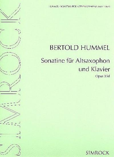 Sonatine op.35dfür Altsaxophon und Klavier