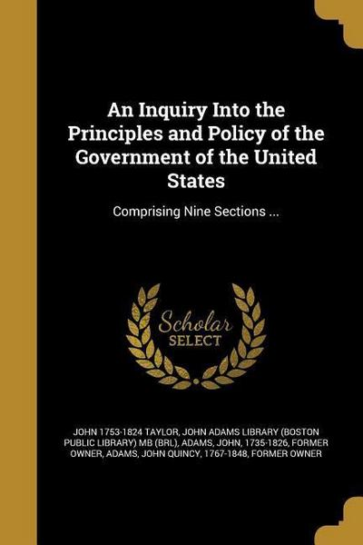 INQUIRY INTO THE PRINCIPLES &