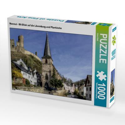 Monreal - Mit Blick auf die Löwenburg und Pfarrkirche (Puzzle)
