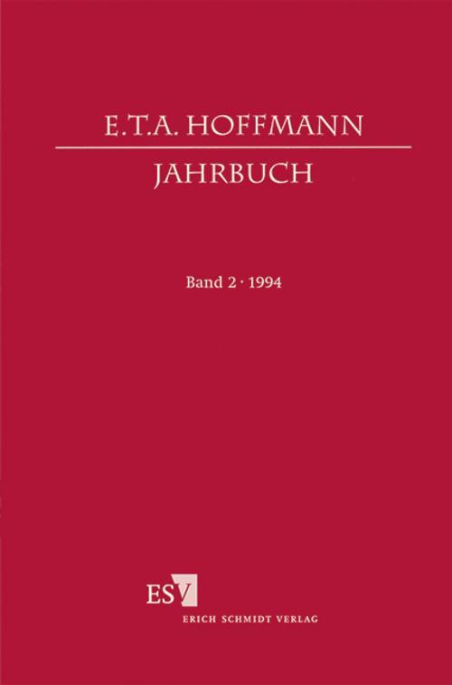 E. T. A. Hoffmann-Jahrbuch 1994 Hartmut Steinecke
