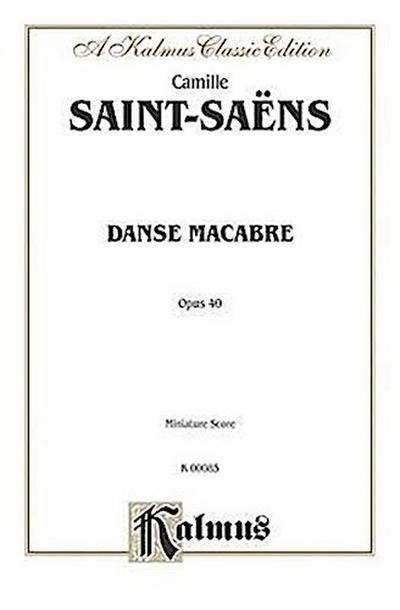 Danse Macabre, Op. 40: Miniature Score, Miniature Score