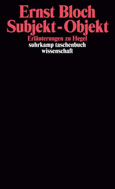 Subjekt, Objekt. Erläuterungen zu Hegel.