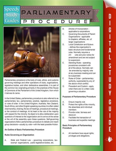 Parliamentary Procedure (Speedy Study Guides)