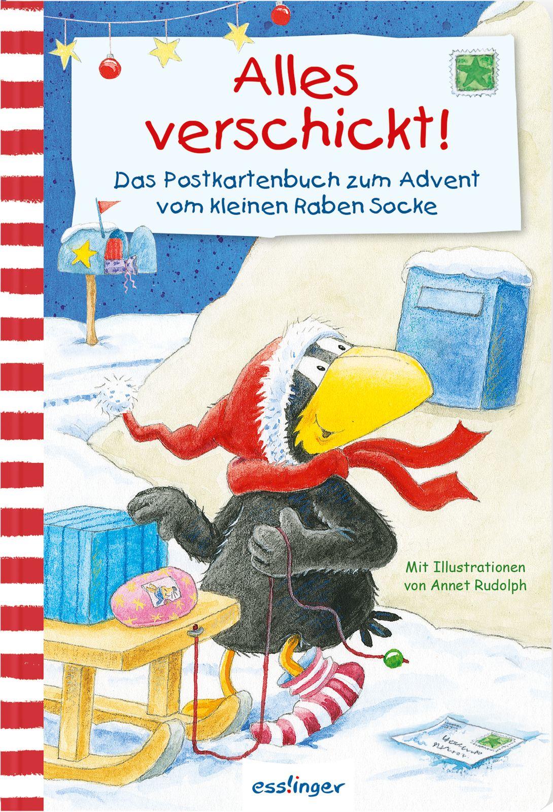 Kleiner Rabe Socke: Alles verschickt! Das Postkartenbuch zum Advent vom kle ...