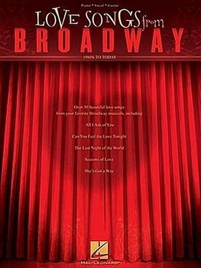 Love Songs from Broadway: 1980s to Today