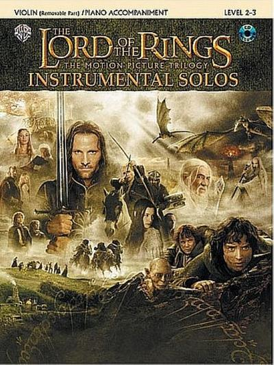 The Lord of the Rings Instrumental Solos for Strings: Violin (with Piano Acc.), Book & Online Audio/Software
