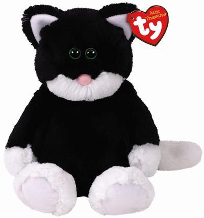 Bessie, Katze schwarz/weiß 33cm