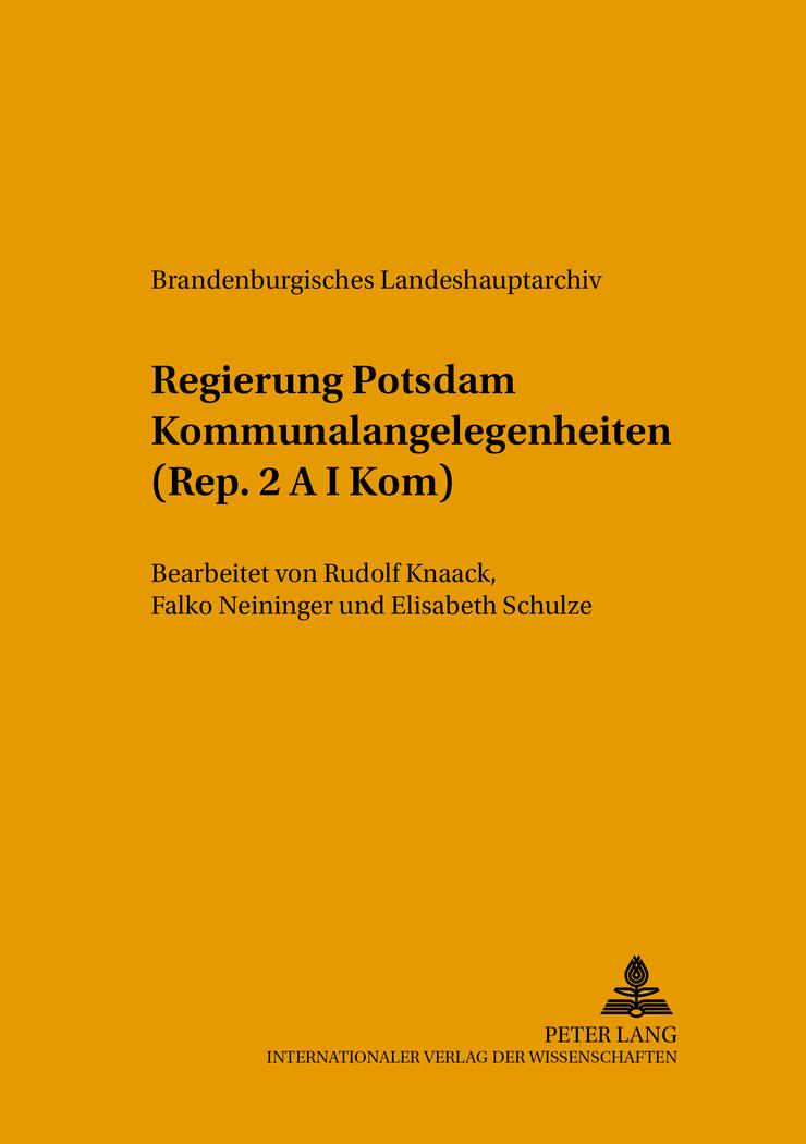 Regierung Potsdam Kommunalangelegenheiten (Rep. 2 A I Kom), Elisabeth Schul ...