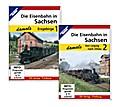 Die Eisenbahn in Sachsen damals - Teil 1 und Teil 2 im Paket, 2 DVDs