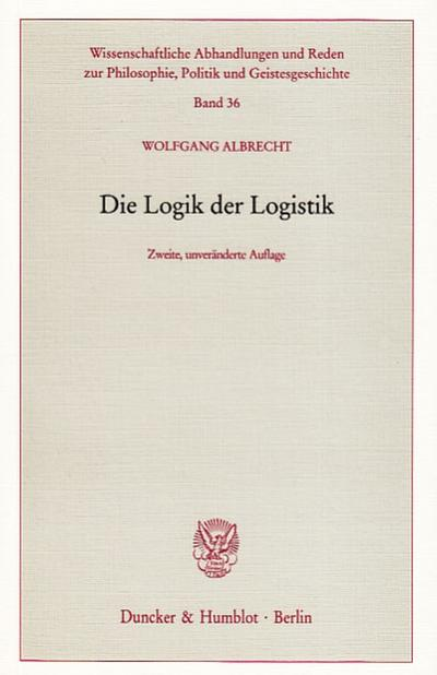 Die Logik der Logistik