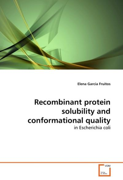 Recombinant protein solubility and conformational quality