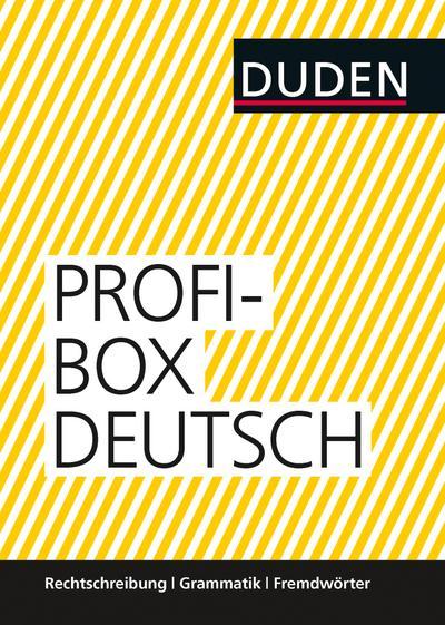 Duden Profibox Deutsch: Rechtschreibung, Grammatik und Fremdwörter