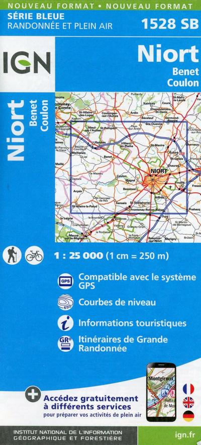 Niort Benet Coulo 1:25 000