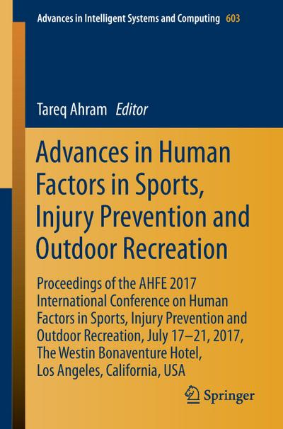Advances in Human Factors in Sports, Injury Prevention and Outdoor Recreation