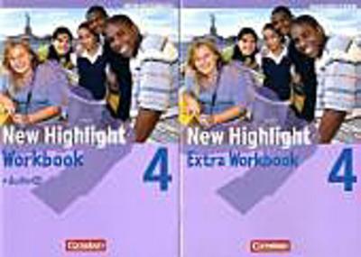 New Highlight, Werkrealschule Baden-Württemberg 8. Schuljahr  (5 Wochenstunden), Workbook m. Audio-CD u. Workbook Extra