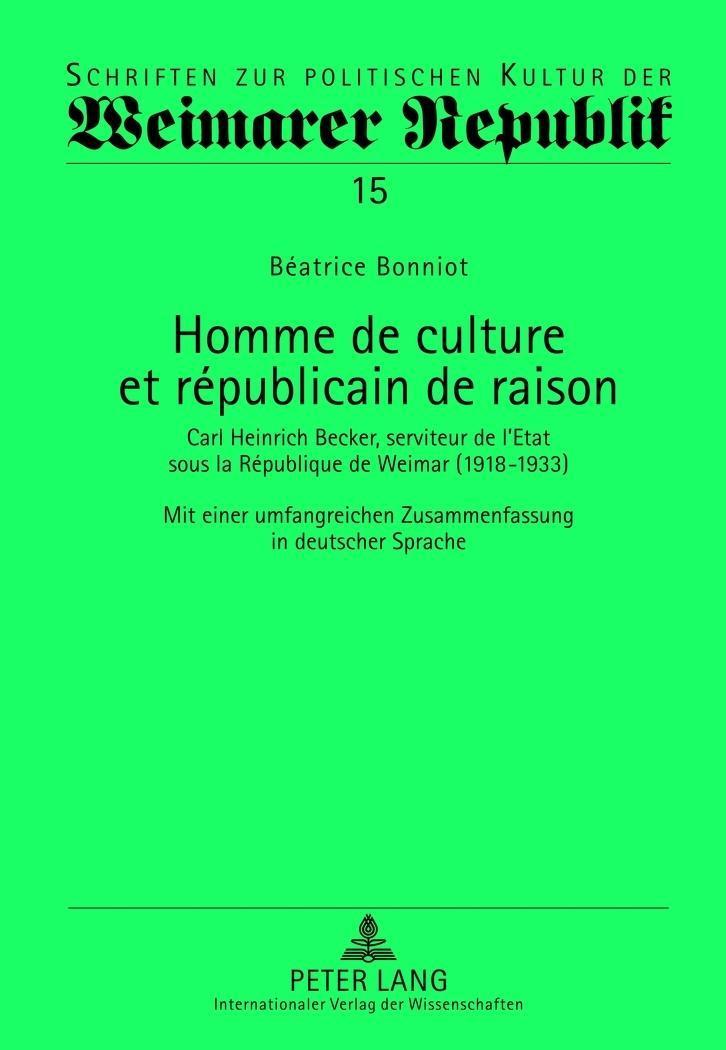 Homme de culture et républicain de raison Béatrice Bonniot