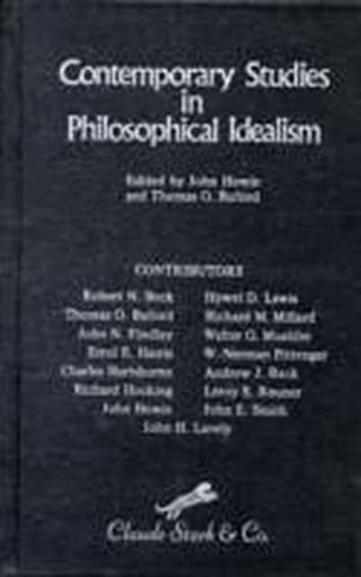 Contemporary Studies in Philosophical Idealism