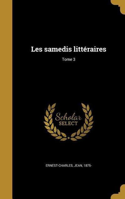 FRE-LES SAMEDIS LITTERAIRES TO