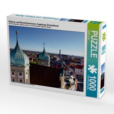 Rathaus und Maximilianstrasse, Augsburg, Deutschland (Puzzle)