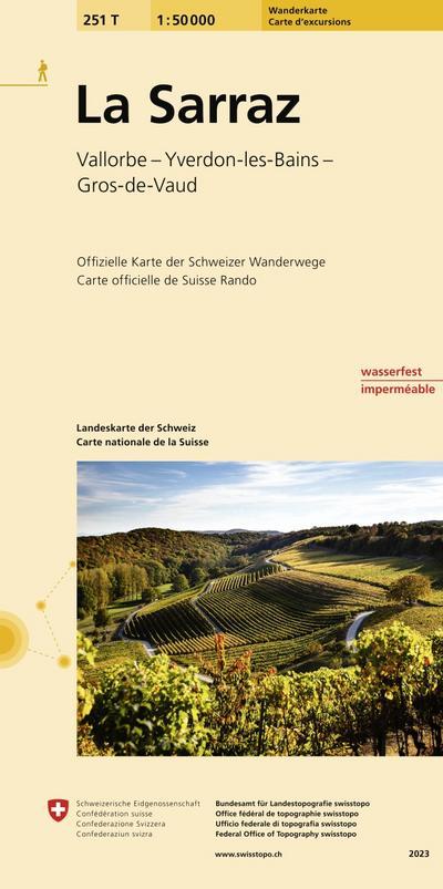 Swisstopo 1 : 50 000 La Sarraz Wanderkarte