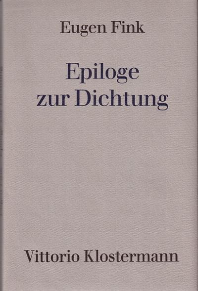 Epiloge zur Dichtung