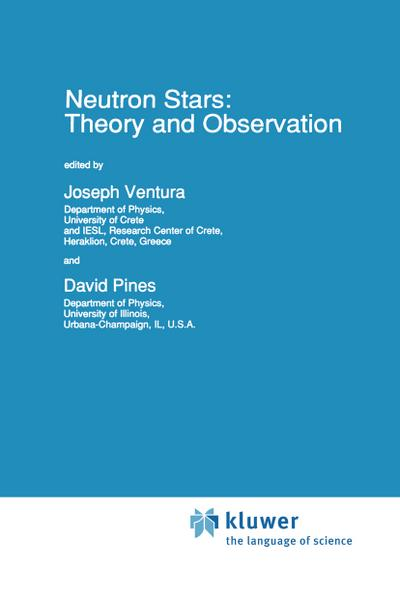 Neutron Stars: Theory and Observation