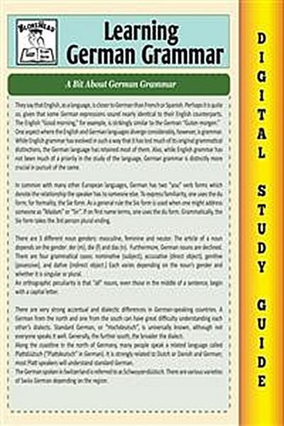 German Grammar ( Blokehead Easy Study Guide)