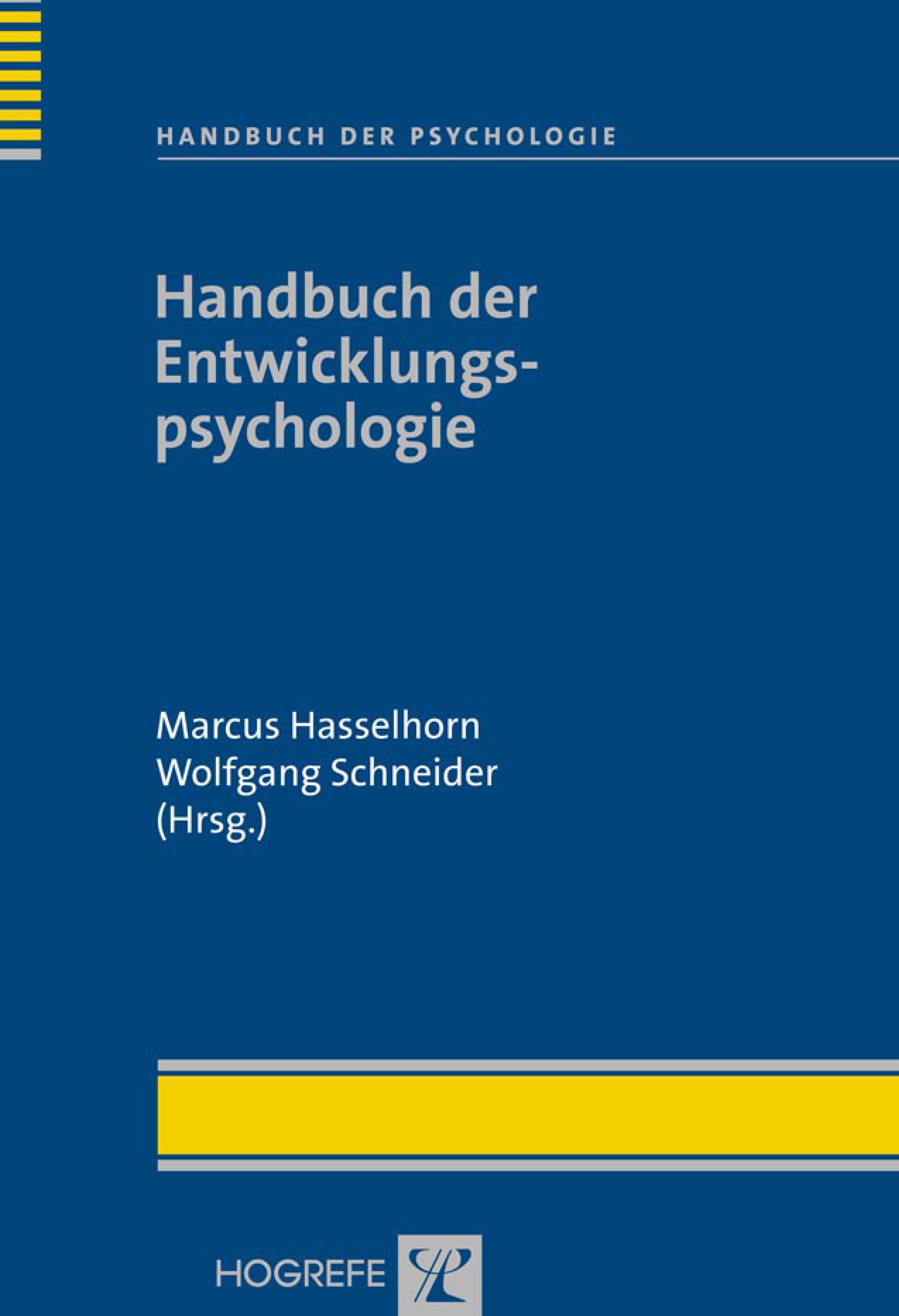 Handbuch der Entwicklungspsychologie Marcus Hasselhorn