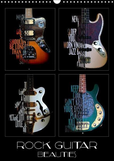 Rock Guitar Beauties (Wall Calendar 2019 DIN A3 Portrait)