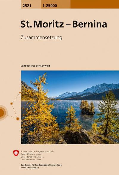 Swisstopo 1 : 25 000 St. Moritz Bernina