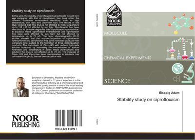 Stability study on ciprofloxacin
