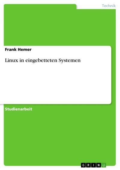 Linux in eingebetteten Systemen