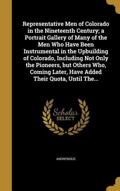 REPRESENTATIVE MEN OF COLORADO