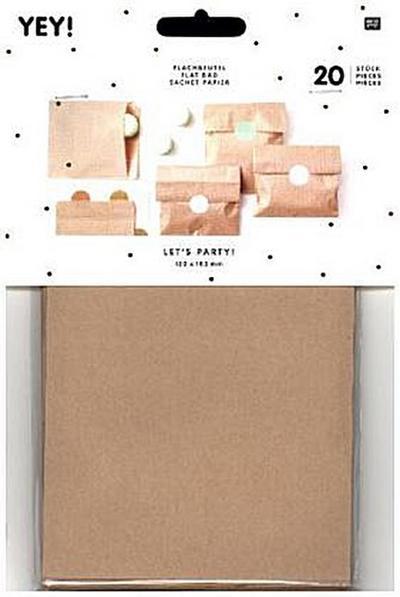 Flachbeutel Kraftpapier Braun, Größe S - RICO-Design Tap - , Deutsch, , ,