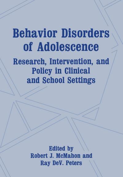 Behavior Disorders of Adolescence