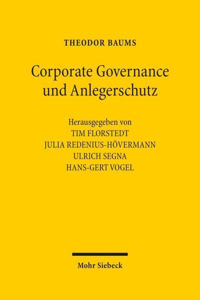 Corporate Governance und Anlegerschutz