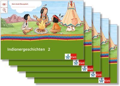 Mein Indianerheft. Indianer-Geschichten. Arbeitsheft Klasse 2 (5-er Paket)