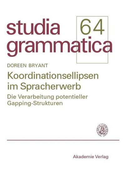 Koordinationsellipsen im Spracherwerb