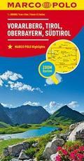 MARCO POLO Regionalkarte Österreich Blatt 3 Vorarlberg,Tirol,Oberbayern 1:200 000