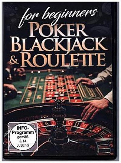 Poker, Blackjack & Roulette For Beginners, 1 DVD