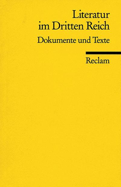 Literatur im Dritten Reich