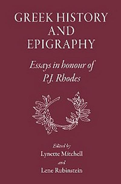 Greek History and Epigraphy