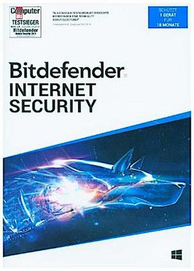 Bitdefender Internet Security 2020 1Gerät/18Monate, 1 DVD-ROM