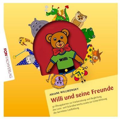 Willi und seine Freunde: 32 Lautbilder - Übungskarten