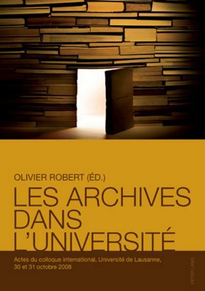 Les archives dans l'université