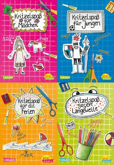 Pixi kreativ Serie Nr. 4: Total verrückter Kritzelspaß (4 x 7 Exemplare)