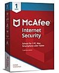 McAfee Internet Security 1 Device (Code in a Box). Für  Windows Vista/7/8/8.1/10/MAC/Android/iOs