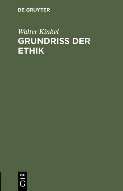 Grundriss der Ethik