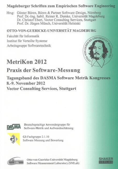 MetriKon 2012 - Praxis der Software-Messung Günter Büren