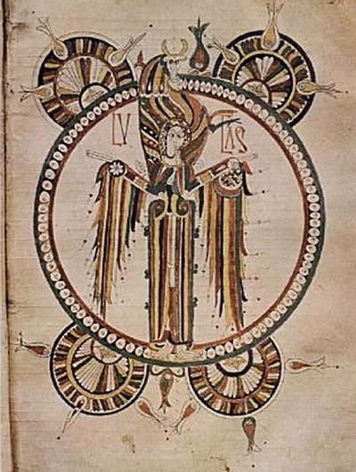 Vimara (Meister der Bibel von León von 920) - Bibel von León, Szene: Symbol des Hl. Lucas - 100 Teile (Puzzle)